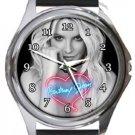 Britney Spears Round Metal Watch