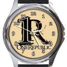 One Republic Round Metal Watch