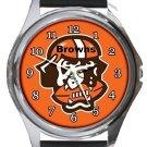 Cleveland Browns Round Metal Watch