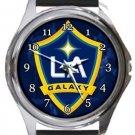 Los Angeles LA Galaxy Round Metal Watch