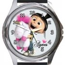Agnes Despicable Me Round Metal Watch