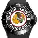 Chicago Black Hawks Plastic Sport Watch In Black