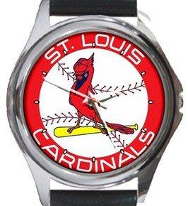 St. Louis Cardinals Round Metal Watch