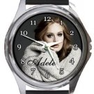 Adele Round Metal Watch