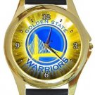 Golden State Warriors Gold Metal Watch