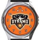 Houston Dynamo Round Metal Watch