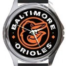 Baltimore Orioles Round Metal Watch