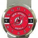 New Jersey Devils Money Clip Watch