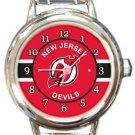 New Jersey Devils Round Italian Charm Watch