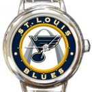 St. Louis Blues Round Italian Charm Watch