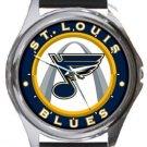 St. Louis Blues Round Metal Watch