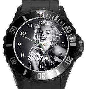 Marilyn Monroe Plastic Sport Watch In Black