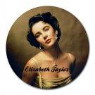 Elizabeth Taylor Heat-Resistant Round Mousepad