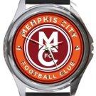 Memphis City Football Club Round Metal Watch