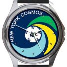 New York Cosmos Round Metal Watch