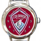 Colorado Rapids FC Round Italian Charm Watch