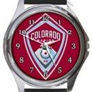 Colorado Rapids FC Round Metal Watch
