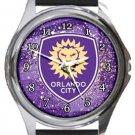 Orlando City SC Round Metal Watch