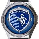 Sporting Kansas City SC Round Metal Watch