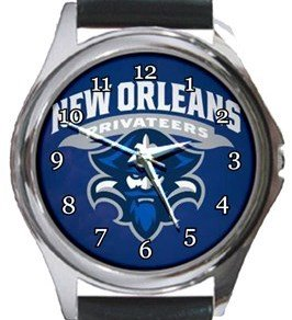 New Orleans Privateers Round Metal Watch