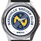 Nashville Soccer Club Round Metal Watch