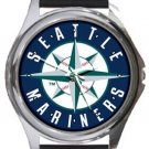 Seattle Mariners Round Metal Watch