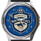 Charlotte Independence Round Metal Watch