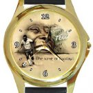 Soccer Legend Pele Gold Metal Watch