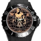 Boxing Legend Muhammad Ali Plastic Sport Watch In Black