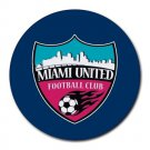 Miami United Football Club Heat-Resistant Round Mousepad