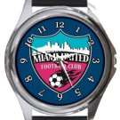 Miami United Football Club Round Metal Watch