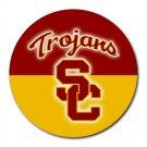 USC Trojans Heat-Resistant Round Mousepad