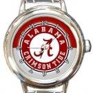 Alabama Crimson Tide Round Italian Charm Watch