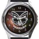 New Zealand Warriors Round Metal Watch