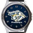 Nashville Predators Round Metal Watch