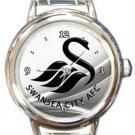 Swansea City Round Italian Charm Watch