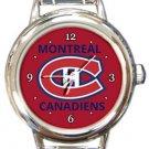 Montreal Canadiens Round Italian Charm Watch
