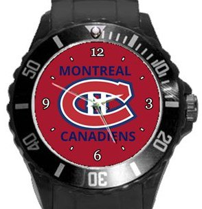 Montreal Canadiens Plastic Sport Watch In Black