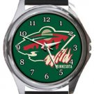 Minnesota Wild Round Metal Watch