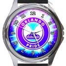 Orlando Pride Round Metal Watch