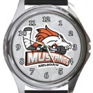 Melbourne Mustangs Round Metal Watch