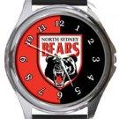 North Sydney Bears Round Metal Watch