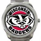 Wisconsin Badgers Sport Metal Watch
