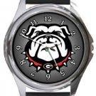 Georgia Bulldogs Round Metal Watch