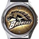 Western Michigan Broncos Round Metal Watch