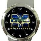 Michigan Wolverines Money Clip Watch