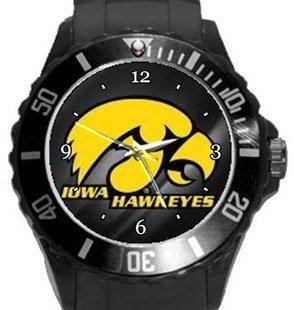 University of Iowa Hawkeyes Plastic Sport Watch In Black