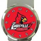 University of Louisville Cardinals Money Clip Watch
