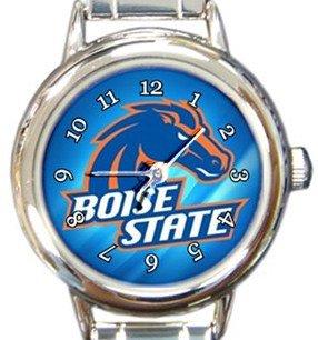 Boise State Broncos Round Italian Charm Watch