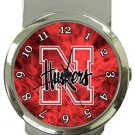 Nebraska Cornhuskers Money Clip Watch